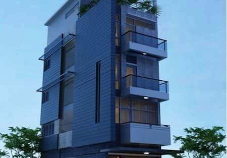 Xây nhà 5 tầng 4 phòng ngủ