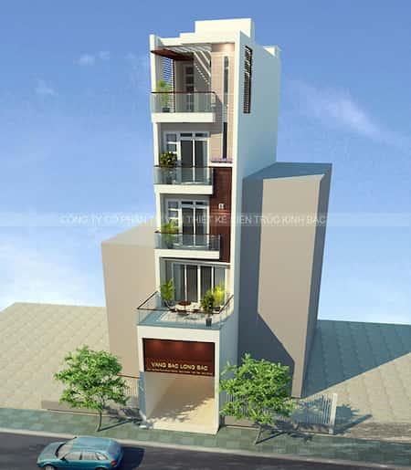 nha 5 tang dep 6 - Thiết kế nhà 5 tầng đẹp