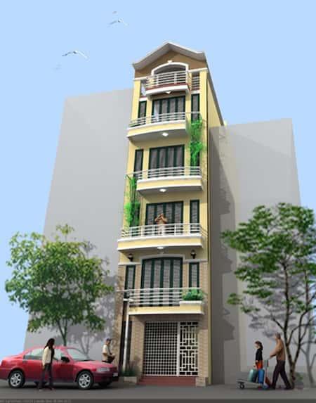 nha 5 tang dep 7 - Thiết kế nhà 5 tầng đẹp