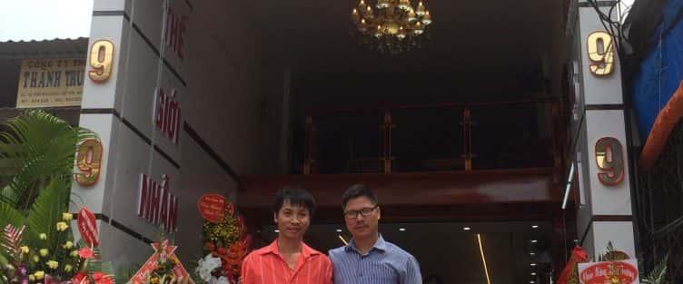 Thiết kế nhà 5 tầng kết hợp kinh doanh vàng bạc, có thang máy ở Bắc Giang.