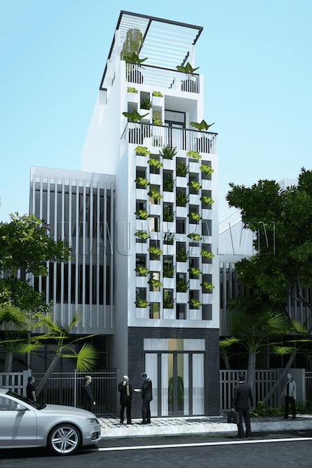 nha 5 tang dep - Thiết kế nhà 5 tầng đẹp