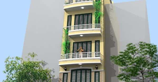 Xây nhà vườn 5 tầng