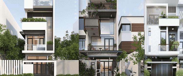 Các dự án thiết kế nhà phố đẹp đã thực hiện