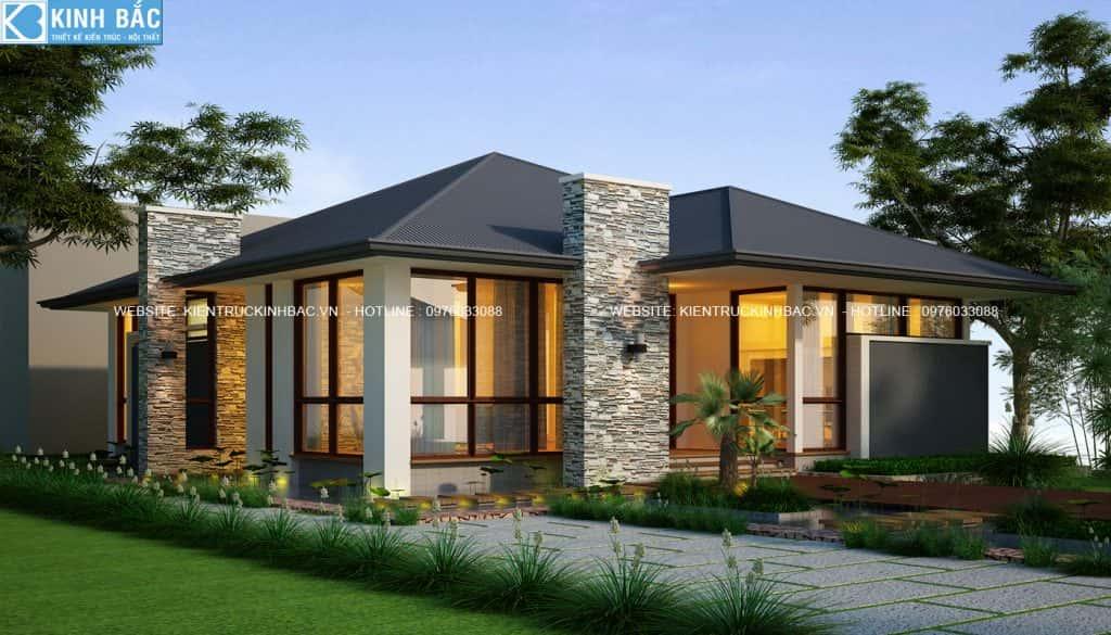 pc2 1 1024x585 - Mẫu thiết kế biệt thự một tầng đẹp
