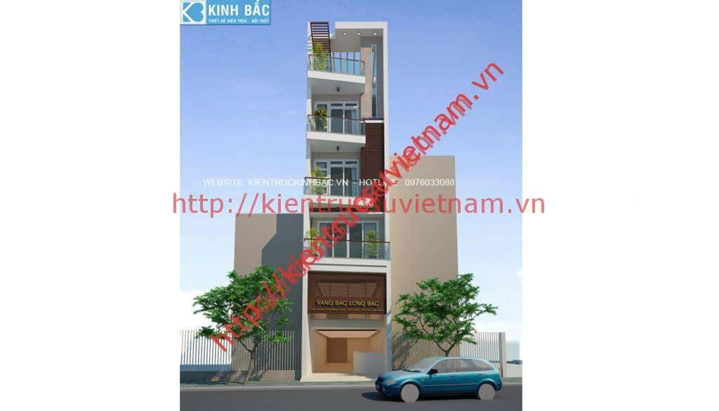 phoi canh 1 - Thiết kế nhà 5 tầng đẹp