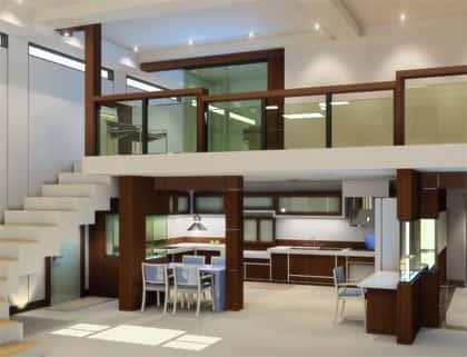 thie ke gac lung 2 - Thiết kế nhà 2 tầng đẹp