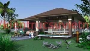 thiet ke biet thu 1 tang 13 300x171 - Tư vấn mẫu thiết kế biệt thự 3 tầng đẹp mặt tiền 9m