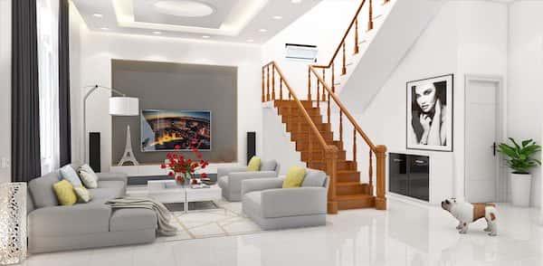 thiet ke biet thu 2 tang view3 - Thiết kế biệt thự tân cổ điển đẹp
