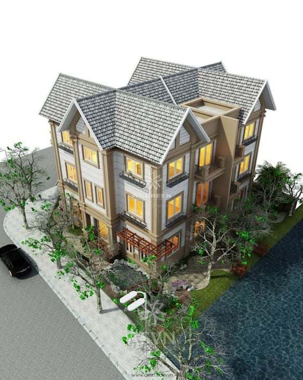 thiet ke biet thu vuon 10a - 57 Mẫu thiết kế nhà mái thái đẹp nếu làm nhà các bạn nên tham khảo, mát phù hợp khí hậu nhiệt đới