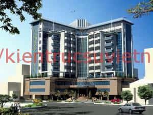 thiet ke khach san 001db 300x225 - Thiết kế khách sạn 3 sao