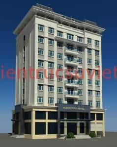 thiet ke khach san 100atr 238x300 - Thiết kế khách sạn 3 sao