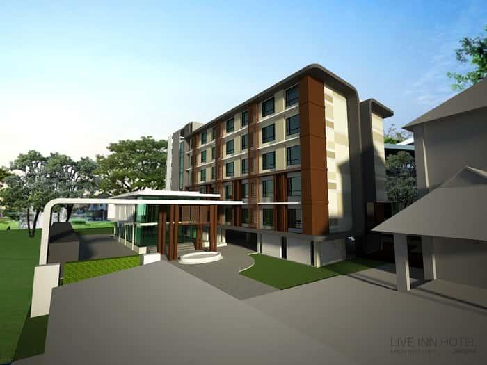 thiet ke khach san live inn perspective - Thiết kế khách sạn tại Hải Phòng