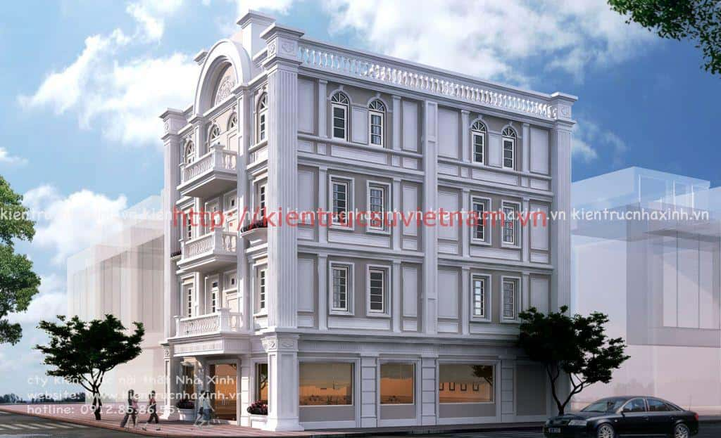 thiet ke khach san mini 001 - Thiết kế khách sạn mini