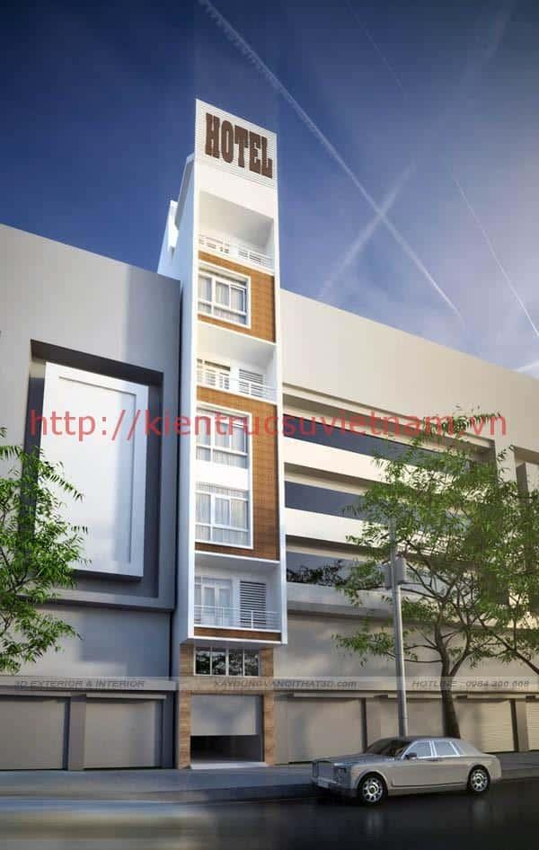 thiet ke khach san mini 001ds - Thiết kế khách sạn mini