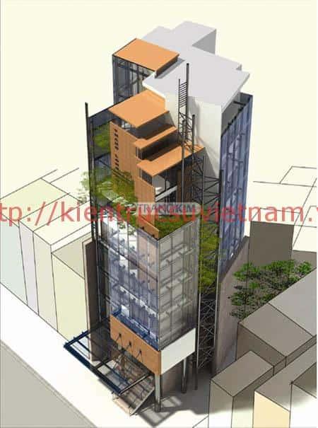 thiet ke khach san mini 9t - Thiết kế khách sạn mini