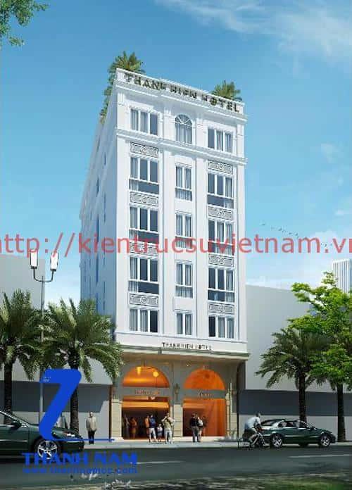 thiet ke khach san mini dep - Thiết kế khách sạn mini