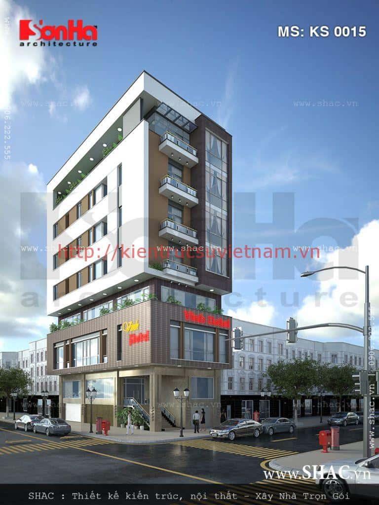 thiet ke khach san mini - Thiết kế khách sạn mini