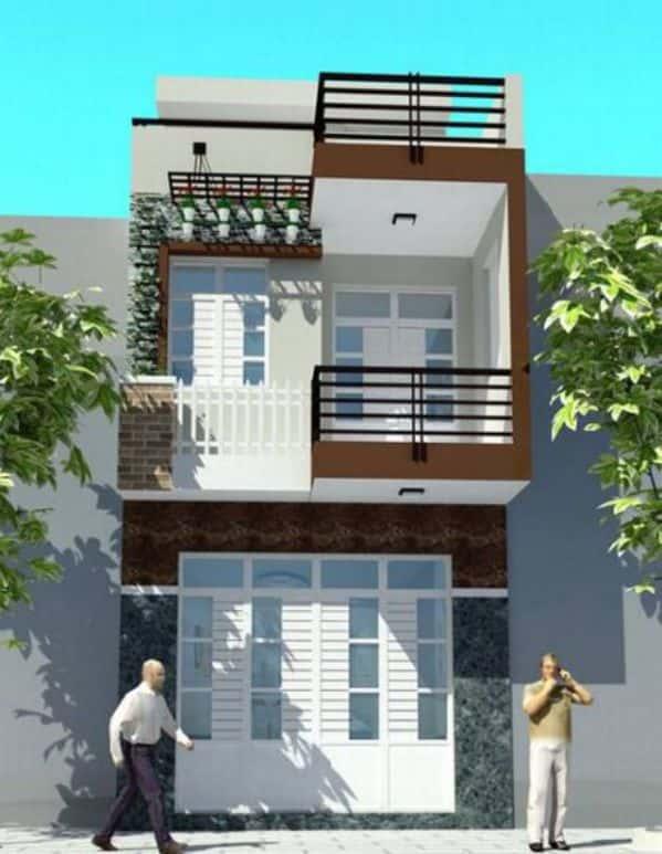 thiet ke nha 2 tang 1 - Bộ sưu tập những mẫu thiết kế nhà  đẹp