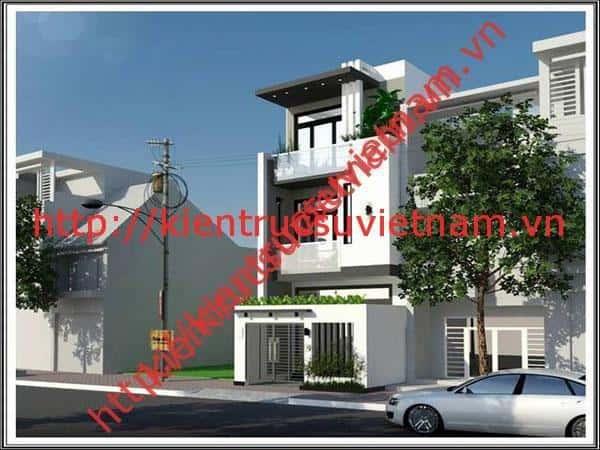 thiet ke nha 3 tang 1000t - 25 Mẫu thiết kế nhà đẹp hiện đại nhiều người thích thú
