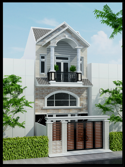 thiet ke nha dep 2 tang nhà 2 tầng 5x15m - Thiết kế nhà 2 tầng đẹp