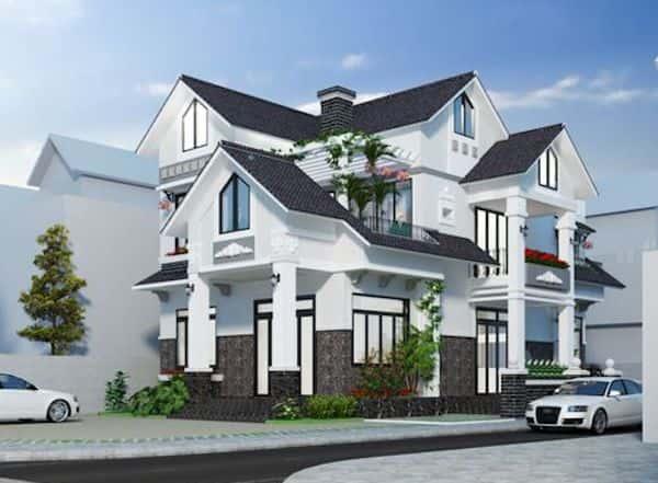 thiet ke nha mai thai 1 - Thiết kế nhà mái thái đẹp