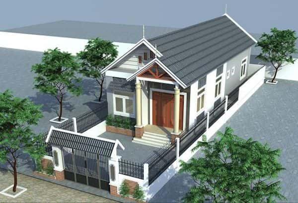 thiet ke nha mai thai 2 1 - Thiết kế nhà mái thái đẹp