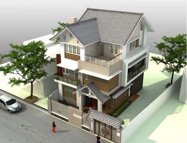 thiet ke nha mai thai 5 - Thiết kế nhà mái thái đẹp