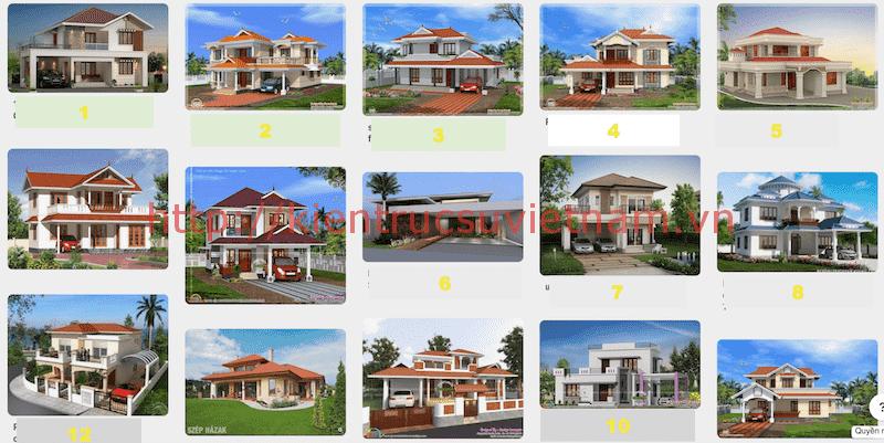 Thiết kế nhà mái thái