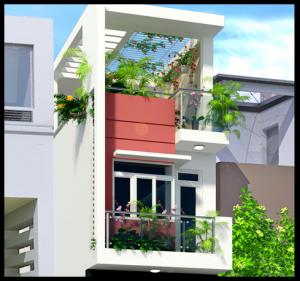 thiet ke nha ong 2 tang mat tien nhà 2 tầng 5x15m 300x281 - Tư vấn thiết kế nhà phố 8x20m với kinh phí 600 triệu