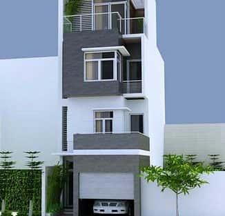 Tư vấn thiết kế nhà 4 tầng mặt tiền 8,5m đẹp