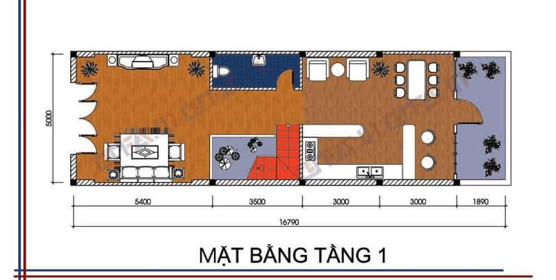 Ban ve thiet ke nha 2 tang mb tang 1 - Tư vấn mẫu bản  vẽ thiết kế nhà 2 tầng đẹp