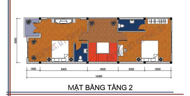 Ban ve thiet ke nha 2 tang mb tang 2 - Tư vấn mẫu bản  vẽ thiết kế nhà 2 tầng đẹp