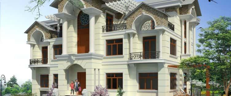 Mẫu thiết kế biệt thự đẹp ở Bắc Giang