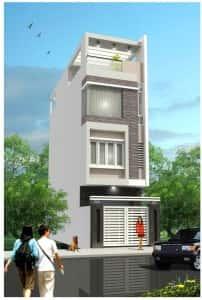 Nha ong 3 tang co tum 202x300 - thiết kế nhà 3 tầng 4x12m