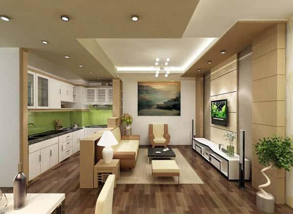 Noi that sang mau cho can ho chung cu nho 1 - Thiết kế thi công nội thất căn hộ chung cư đẹp