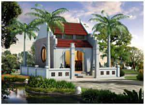 Thiet ke nha tho tu duong dong ho 10 300x218 - Mẫu nhà thờ họ tộc đẹp
