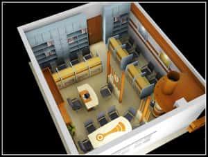 Thiet ke noi that van phong o 300x227 - Bộ sưu tập những mẫu thiết nội thất văn phòng đẹp
