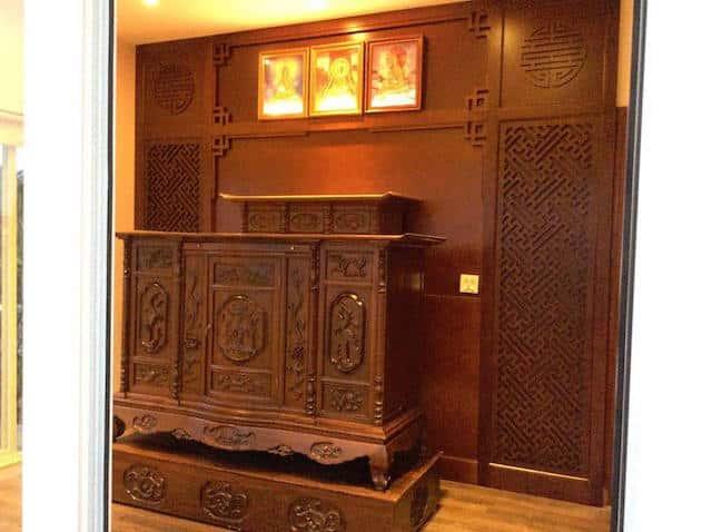 ban tho dep btd005 - Một bàn thờ đẹp chuẩn phong thủy thì phải tránh những thứ này