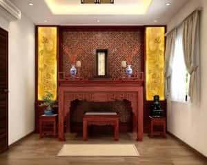 ban tho dep btd006 300x239 - Thiết kế nội thất phòng thờ