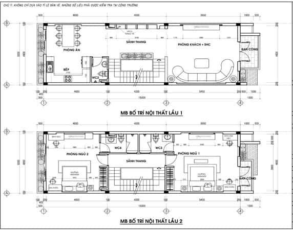 ban ve thiet ke nha pho 5x15m 5tang tang lau 1 2 2779 - Tư vấn mẫu bản  vẽ thiết kế nhà 2 tầng đẹp