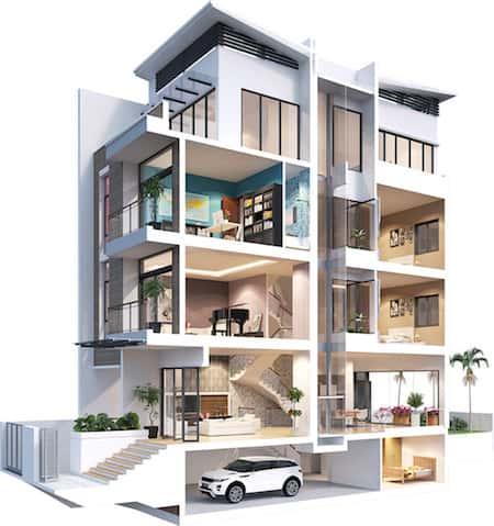 biet thu co thang may - Thiết kế nhà biệt thự có thang máy đẹp