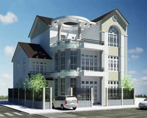 biet thu dep019 300x242 - Bộ sưu tập 45 mẫu biệt thự phố hiện đại đẹp ấn tượng