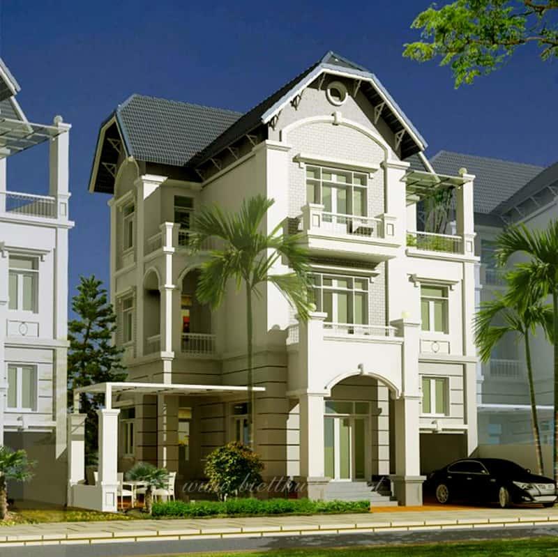 biet thu dep086 - Bộ sưu tập mẫu thiết kế biệt thự phố đẹp và sang trọng