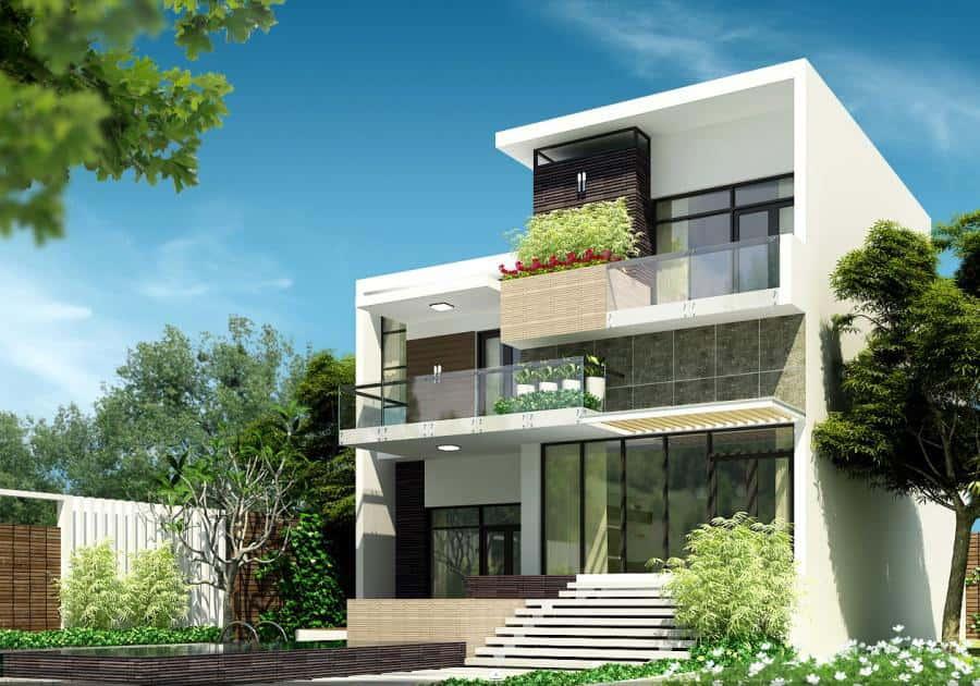 biet thu pho dep 1401546768 17 - Bộ sưu tập mẫu thiết kế biệt thự phố đẹp và sang trọng