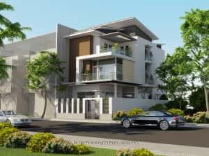 biet thu pho dep muthitkkintrcbitthphp 1 300x225 - Bộ sưu tập 45 mẫu biệt thự phố hiện đại đẹp ấn tượng
