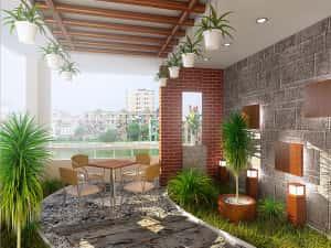 cach thiet ke tieu canh thu hut cho nha pho 300x225 - Tư vấn thiết kế sân vườn tiểu cảnh hòn non bộ đẳng cấp