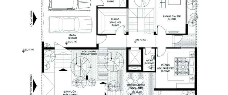 Thiết kế nhà biệt thự có thang máy đẹp