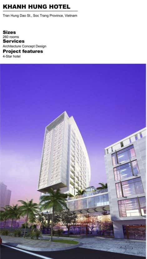 khanh hung hotel e1570096445883 - Giới thiệu về hoạt động kiến trúc sư Phan Đình Kha
