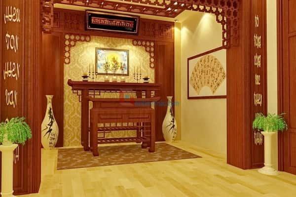 khong gian noi that phong tho 3 - Thiết kế nội thất phòng thờ