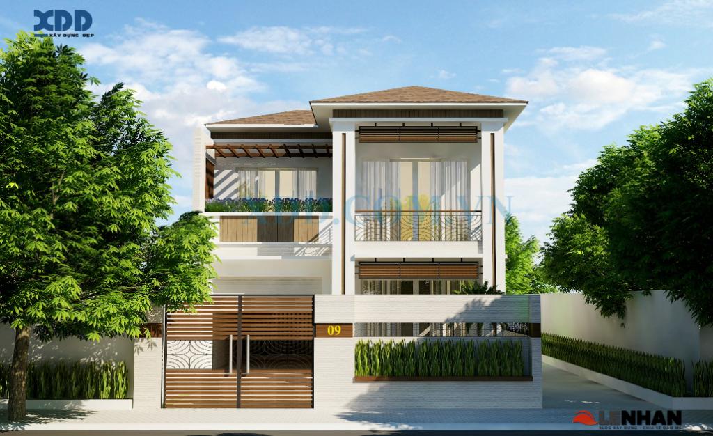 mẫu nhà đẹp 2 tầng rộng 8m anh quang - Thiết kế nhà Đà Nẵng